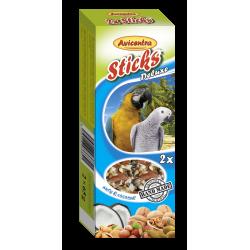 Tyčinka veľký papagáj-orech+kokos 2ks