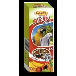 tyčinky pre veľké papagáje -ovocie,med